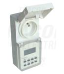 Programator electronic cu priza, saptamanal,CP tip pin TKO-DHEVF 230V, 16A, IP44