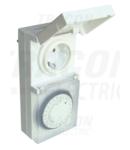 Programator electromecanic cu priza, zilnic TKO-DNV 230V, 16A, IP44