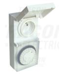Programator electromecanic cu priza cu CP tip pin, zilnic TKO-DNVF 230V, 16A, IP44