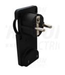 Fisa plata neagra, care se poate masca TCSDRB 250VAC, max.10/16A (DUAL Schuko/French)