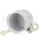 Capac impermeabil pentru fisa TICSCAP165 TICS-0152H.. (16A,5P) d=57,5mm, IP67