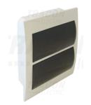 Cutie de distributie sub tencuiala, usa fumurie, bareta N/PE EDS-12/2 2×12 (24) modul, IP40, (H×W×D=320×270×70mm)