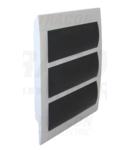 Cutie de distributie sub tencuiala, usa fumurie, bareta N/PE EDS-12/3 3×12 (36) modul, IP40, (H×W×D=475×310×75mm)