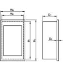 Cutie de distributie ST, usa fumurie plana EDSS-12/3 3×12 (36) modul, IP40, (H×W×D=545×305×85 mm)