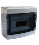 Cutie de distributie PT, usa transparenta, bareta N/PE EDFKIP65-12/1 1×12 mod, H×W×D=260×300×140mm, IP65, 660V AC