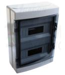 Cutie de distributie PT, usa transparenta, bareta N/PE EDFKIP65-12/2 2×12 mod, H×W×D=415×300×140mm, IP65, 660V AC