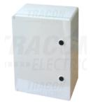 Cutie de distributie din material plastic TME403020 H×W×D=400×300×195mm, IP65, IK10, 1000V AC/DC, RAL7035