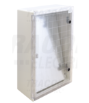 Cutie de distributie din material plastic, usa transparenta TME604020T H×W×D=600×400×200mm, IP65, IK10, 1000V AC/DC, RAL7035