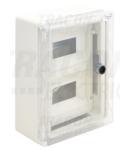 Cutie modulara de distrib.din mat.plastic, usa transparenta TME332513MT 2×9mod, H×W×D=330×250×130mm, IP65, IK10, 1000V AC/DC