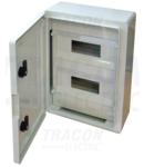Cutie distributie modulara din mat.plastic TME403017M 2×12 mod, H×W×D=400×300×165mm, IP65, IK10, 1000V AC/DC