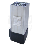 Unit.incalzire+ventilator pt.dulap distrib. ,montaj pe sina FEV400 400W, 230V AC, 45m3/h