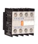 Contact auxiliar frontal, pentru contactor TR1D/F si TR1E TR6DN40 230V, 50Hz, 2A, 4×NO