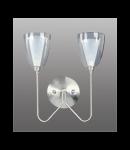 Aplica Camillo K2 cu doua becuri -Brilux-crom satin