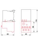 Releu termic de protectie pentru contactor auxiliar TR1K TR2HK0306 690V, 0-400Hz, 1-1,6A, 1×NC+1×NO