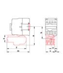 Releu termic de protectie pentru contactor TR1F TR2HF1304 690V, 0-400Hz, 0,4-0,63A, 1×NC+1×NO