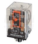 Releu industrial RM08-12DC 12V DC / 2×CO, (3A, 230V AC / 28V DC)