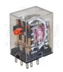 Releu miniaturizat RM12-12AC 12V AC / 3×CO, (3A, 230V AC / 28V DC)