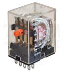 Releu miniaturizat RM14-12AC 12V AC / 4×CO (3A, 230V AC / 28V DC)