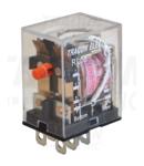 Releu miniaturizat de putere RL08-110DC 110V DC / 2×CO (10A, 230V AC / 28V DC)