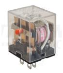 Releu miniaturizat de putere RL11-24DC 24V DC / 3×CO (10A, 230V AC / 28V DC)