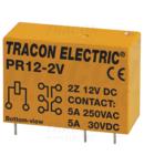 Releu print PR12-2V 12V DC / 2×CO (5A, 230V AC / 30V DC)