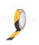 Banda antiderapare de marcare, galben-neagra SRTYB50 5m × 50mm