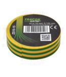 Banda izolatoare, verde-galben ZS10-15 10m×15mm, PVC, 0-90°C, 40kV/mm