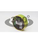 Banda izolatoare, verde-galben ZS10 10m×18mm, PVC, 0-90°C, 40kV/mm