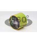 Banda izolatoare, verde-galben ZS50 20m×50mm, PVC, 0-90°C, 40kV/mm