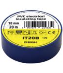 Banda izolatoare, albastra IT20B 20m×18mm, PVC, 0-80°C, 5.5kV/mm