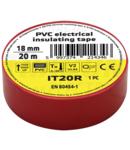 Banda izolatoare, rosie IT20R 20m×18mm, PVC, 0-80°C, 5.5kV/mm