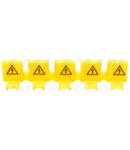 Capac iz. de protectie pini lasina de legatura,galben,5 pini TFSSCOV 1000V
