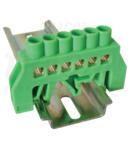 Bareta izolata (N/PE), culoare verde NPE-G8-6 230/400VAC, 100A, 8×12mm, 6P, IP20