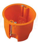 Doza ghips-carton, adanca, fara capac, portocaliu GD60 65×60mm