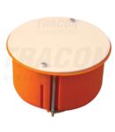 Doza ghips-carton, cu capac, portocaliu GD8021 80×45mm