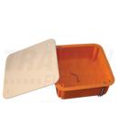 Doza ghips-carton, cu capac, portocaliu GD100 100×100×45mm