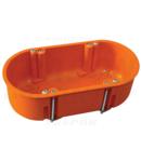 Doza ghips-carton de aparataj, dubla, fara capac, portocaliu GD71D 140×65×45mm