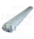 Lampi fluorescente industriale cu balast electronic TLFV-258E 230V, 50Hz, T8, G13, 2×58 W, IP65, ABS/PC, A2, EEI=A