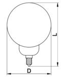 Sursa de lumina LED, formasferica LA7015NW 230 V, 50 Hz, 15 W, 4000 K, E27, 1200 lm, 250°, A70, EEI=A+