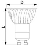 Sursa de lumina COB LED COBGU107WW 230VAC, 7 W, 2700 K, GU10, 490 lm, 40°