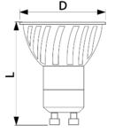 Sursa de lumina spot, cu LED VCOB5NW 230VAC, 5 W, 4000 K, GU10, 360 lm, 100°, EEI=A+