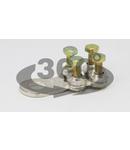 Papuc cu prindere prin surub, tabla de cupru, 4 suruburi WCJB-25-35 25-35mm2, M8, 4x(M5x22)