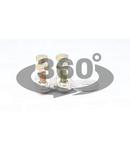 Papuc cu prindere prin surub, tabla de cupru, 4 suruburi WCJB-150-185 150-185mm2, M12, 4x(M8x35)