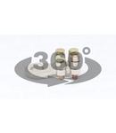 Papuc turnat din cupru, prindere prin 4 suruburi WCJC-25-35 25-35mm2, M10, 2x(M5x23)