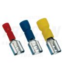 """Fisa glis. iz. tip""""mama"""",alungita 1,5 mm2/6,3×0,8mm/rosie PCSH6-HF 1.5mm2 6.3x0.8mm piros hosszított fémrésszel"""