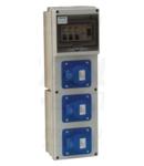 Cutie distributie,cu protectie TDB200401 Véd:3x(32A, 30mA) OUT:3x(32A,2P+E) CEE
