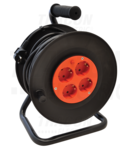 Prelungitor pe tambur KD-4/25-B 4×SHUKO, 25m, 250V AC, 16A, 3×1,5mm2, H05VV-F, IP20