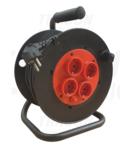 Prelungitor pe tambur KD-4/30-B 4×SHUKO, 30m, 250V AC, 16A, 3×1,5mm2, H05VV-F, IP20