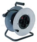 Prelungitor pe tambur KD-4/40-B 4×SHUKO, 40m, 250V AC, 16A, 3×1,5mm2, H05VV-F, IP20