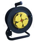 Prelungitor pe tambur KD-9/25-B 4×SHUKO, 25m, 250V AC, 16A, 3×1,5mm2, H07RN-F, IP44